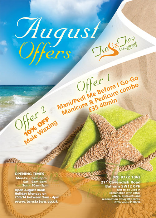 TenSixTwo - August 2014 Promotion