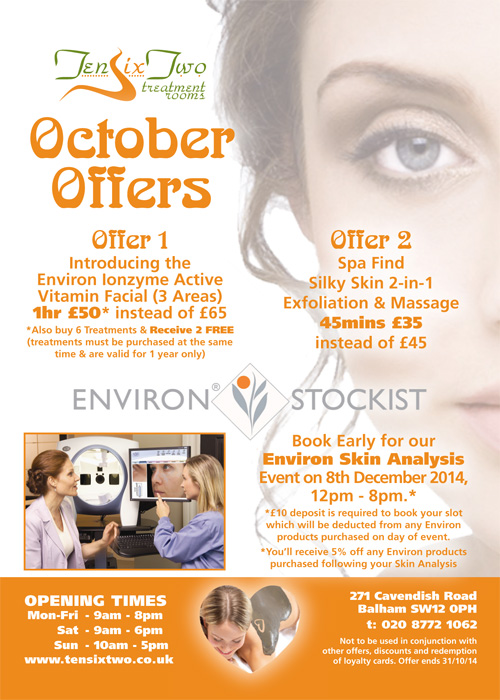 TenSixTwo - October 2014 Promotion
