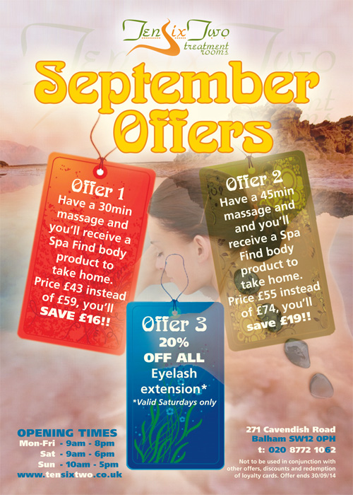 TenSixTwo - September 2014 Promotion